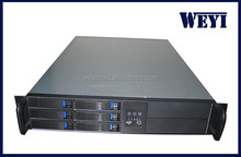 2U rackmounted case hot swap server chassis 6 bays cabinet/new product 2306