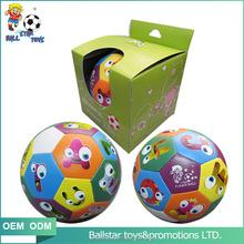 6 inch education funny stuffed cartoon letter soccer ball toy for child