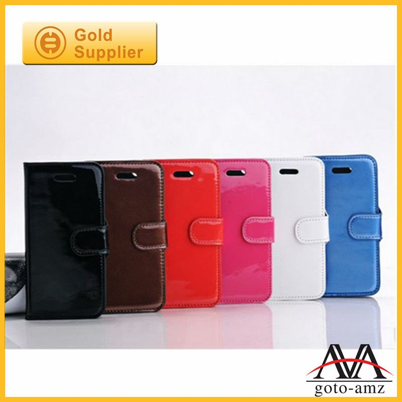 For iPhone 5 stand case new arrival wallet leather case Korea design