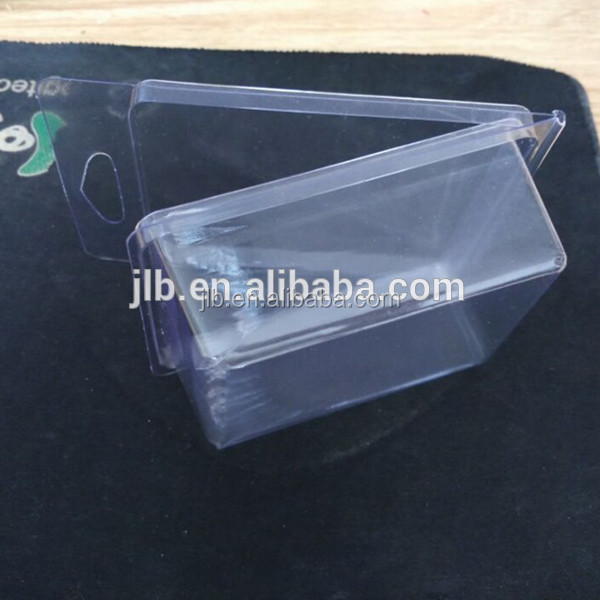 Stock 11.2*7.3*3.8 cm Custom Clamshell Plastic Blister Tray Box for Kids Toy