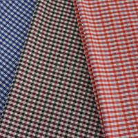 polyester cotton yarn dyed fabric shirt garment fabric