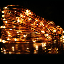 10M100L led copper wire string light /strip light for christmas with DC