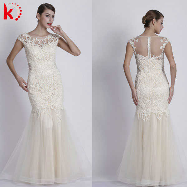 2016 New Gorgeous Sleeveless Handmade Beadwork Embroidered Design Sexy Transparent Back Evening Gown Dresses