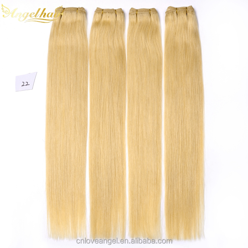 Wholesale Malaysian Hair 100% Human Hair Extension Light Blonde