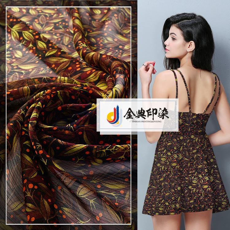 Good price of cheap breathable screen printed italian crepe bulk chiffon fabric