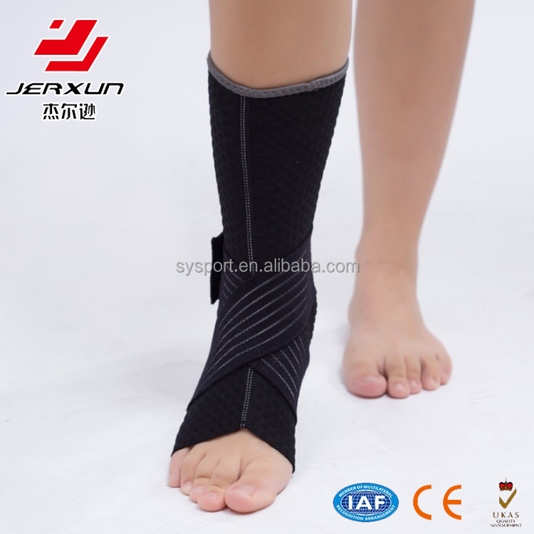 Unisex compression foot sleeve ankle support brace