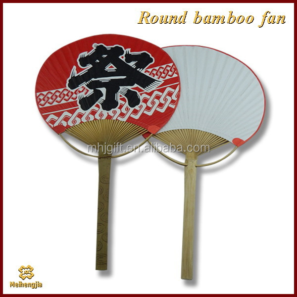 China factory price hot selling bamboo handicrafts round fan