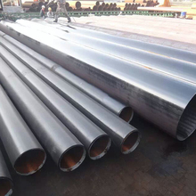 black carbon round welded steel pipe with cutting