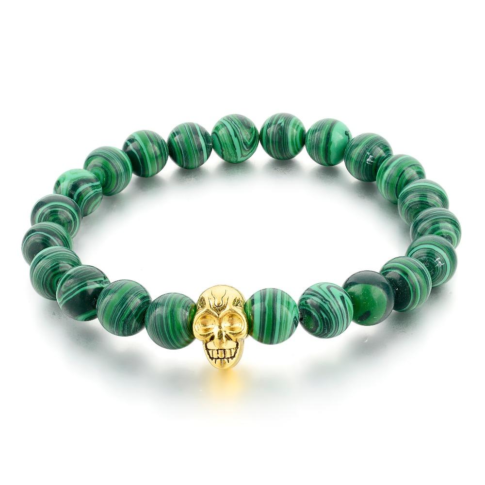 Grossiste bracelet en malachite acheter les meilleurs - Vert de malachite ...