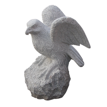 H88 Animal Statue Granite Marble Eagle Carving
