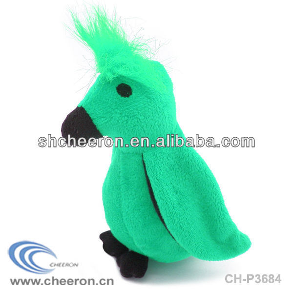 Green bird plush toy Children's plush toy bird