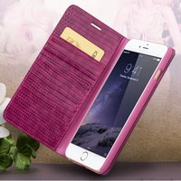 QIALINO 2016 New Products mobile phone accessories case wallet pocket leather case for iphone 6s