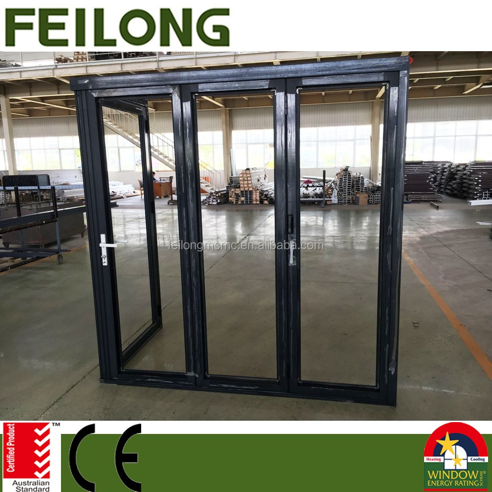 Customized Corner Aluminium Frame Folding Sliding Door & Hinged Door Passed AS2047 Australia Standard