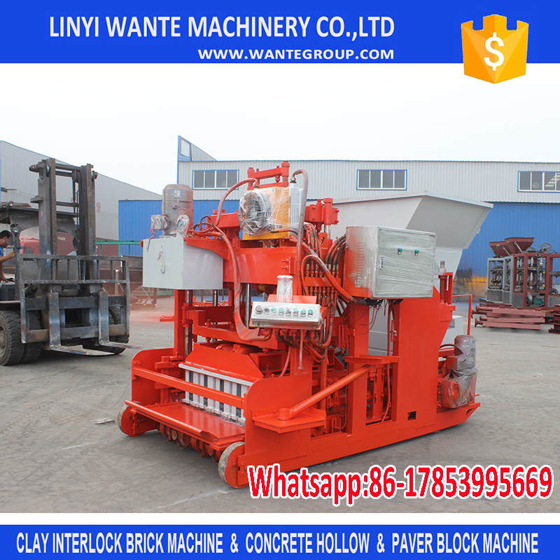 2017 WANTE MACHINERY auto concrete block machine south africa of China