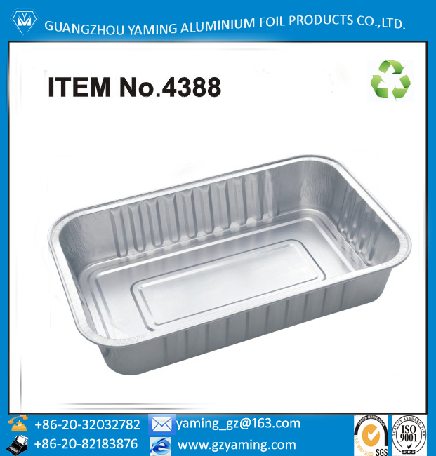 foil container aluminium foil smoothwall food package box