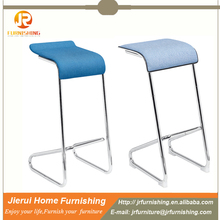 New design fabric high seat fix bar stool / counter chair