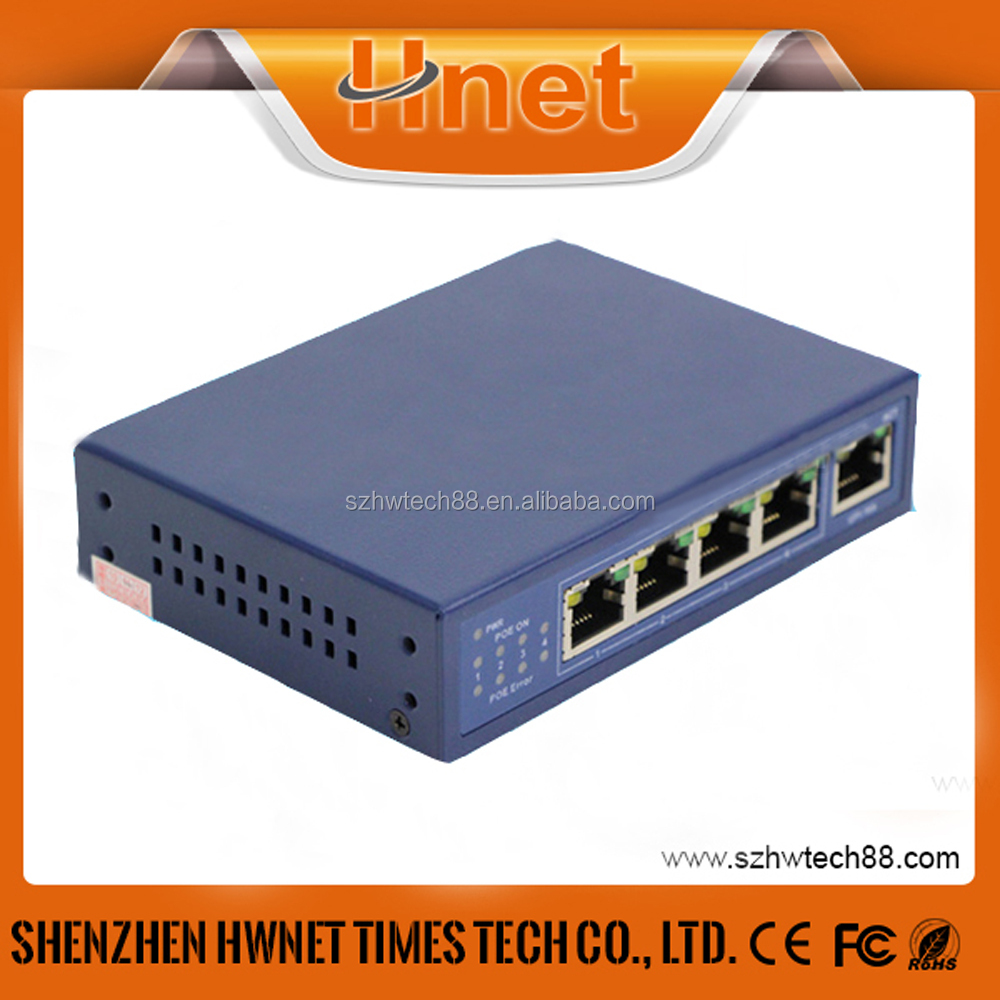 Alibaba Supply 5 port 10/100M SWitch POE 4 port With IEEE 802.3af Power