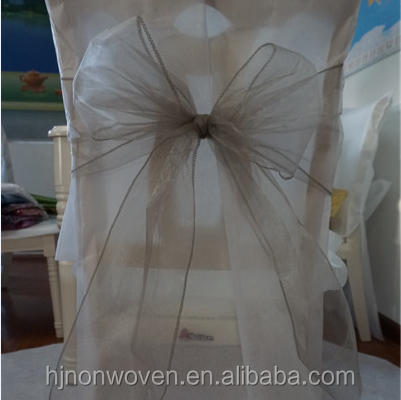 hot sale organza wedding decoration ruffle chair sash wholesale