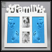 DIY Dust-proof glass baby photo frame with 400g inkpad hand baby hand and foot prints hand footprints