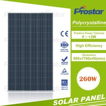 best solar panel manufacturer poly 260 watt solar pv panel 260 W solar pv roof tile