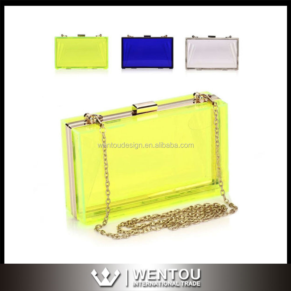 Wholesale Womens Transparent Acrylic Clutch