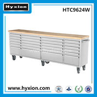 96 inch heavy duty stainless steel mobile zag tool boxes
