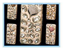 Hot Sale Luxuriou Set auger Popular Shiny Diamond 3D Cute Fox Design TPU Case For iphone5/5s/6s/6plus