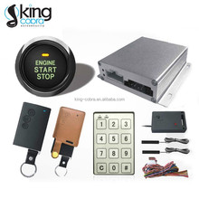 Latest technology smart car alarm- PKE passive keyless entry car alarm system with Engine push start button