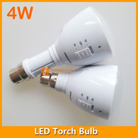 Pin type B22 LED rechargeable bulb 4W for emergency lighting