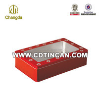 visiting card tin box with clear window CD-051