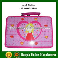 Tin lunch box with lock and key