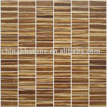 bamboo mosaic for new design,popular wall decoration