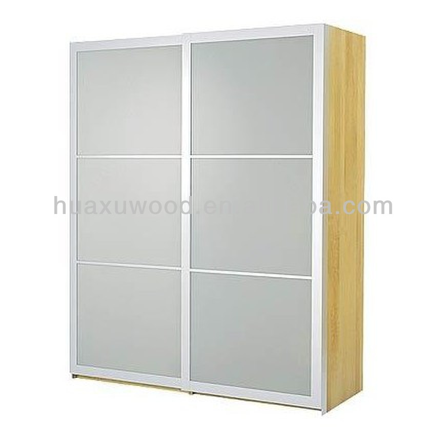HX-MZ222 frosted glass sliding door style 2015 hot sale wardrobe