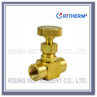 Instrument brass needle valve use for water and air