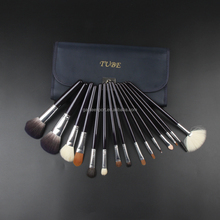 Custom Cosmetic Beauty 15 pcs Multipurpose Makeup Brush Set with Case