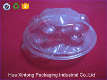 Wholesale round clear plastic egg crate for retail