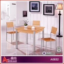 Good sales melamine dining table set russian antique furniture/metal dining table legs/contemporary dining room chair