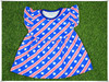 Baby girl summer dress 4th of July cotton dress patriotic stars patten pearl dress