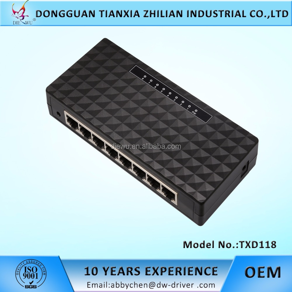 8 port Gigabit Ethernet Switch hub unmanaged desktop switch network adapter