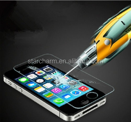 Transparent Premium Real Tempered Glass Film Screen Protector for iPhone5/ 5S