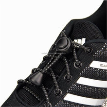 Lazy No Tie Round Reflective Elastic Shoelaces for Kids and Adults Tieless Elastic Slip Sneaker Athletic Running Shoelace