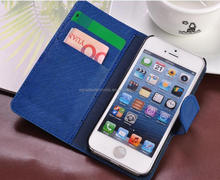 Magnet Close PU leather wallet case cover skin for iPhone 4 4S/5 5S
