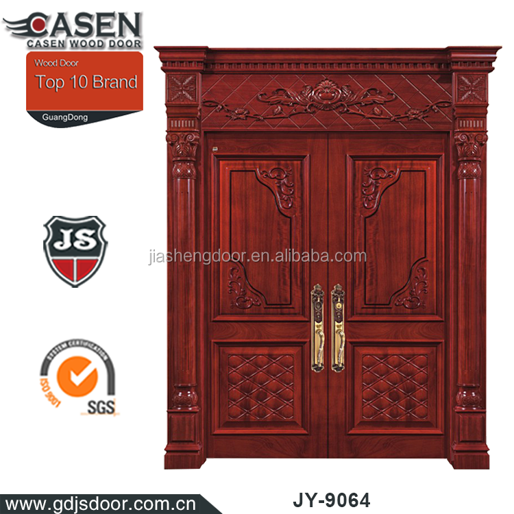 New arrival elegant decorative double swing door for commercial