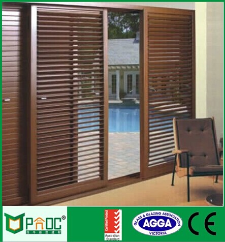 Australian Style Modern Large Glass Security Windows With Built In Blinds