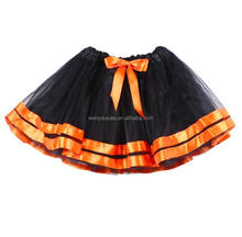 Halloween Outfit Orange Lace Top And Black Tulle Tutu Skirt For Newborn