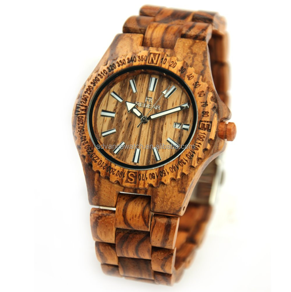 Hot product 2017 natural wood watches men , new arrival leisure wrist wood watches