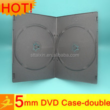 5mm black single/double cd size dvd case