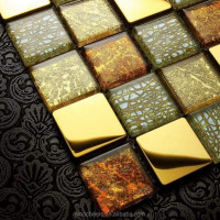 Metal Mix Glass Mosaic/Gold Foil Mosaic/Wall Tile