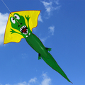 easy fly cute crocodile cartoon kite
