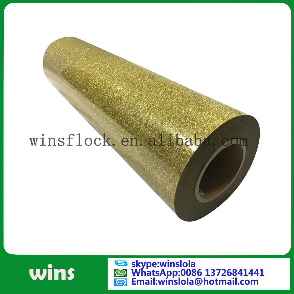 Gold Glitter Iron On Transfer Film Roll